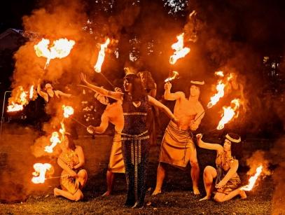 крутой огненное шоу