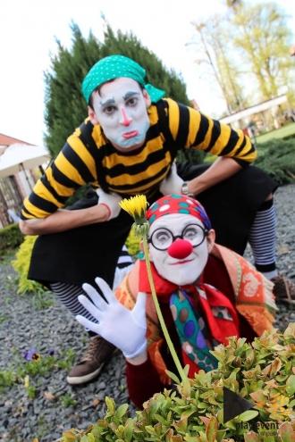клоуны на встречу гостей