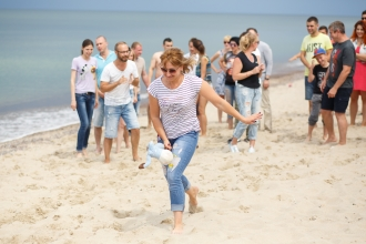 тимбилдинг на море в Калининграде