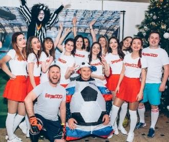 вечеринка в футбольном стиле