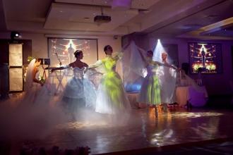 свадебный танец с балеринами